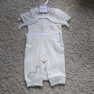 NWT Carter's Newborn Elephant Top and Pants